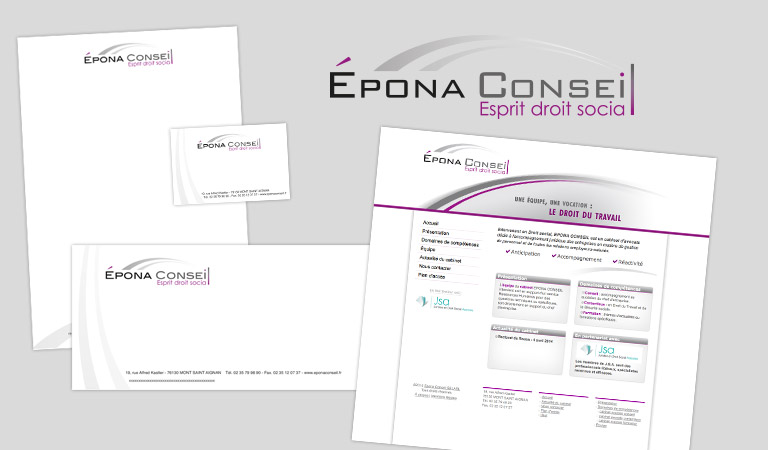Conception et création du site internet pour Epona Conseil