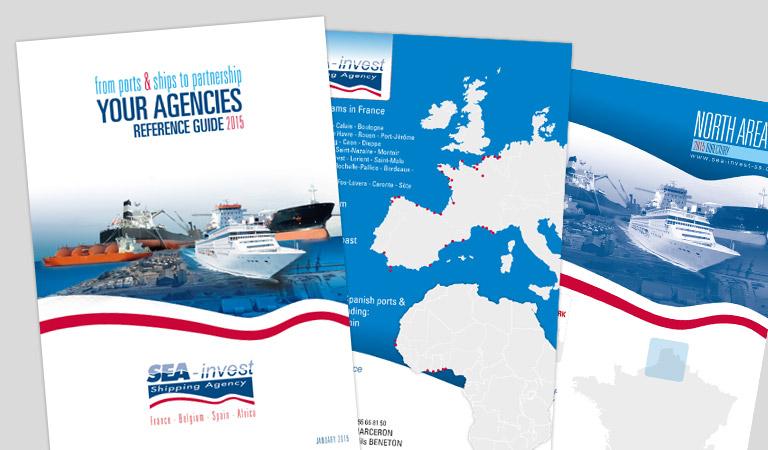 Conception et mise en page de l'annuaire Sea-invest