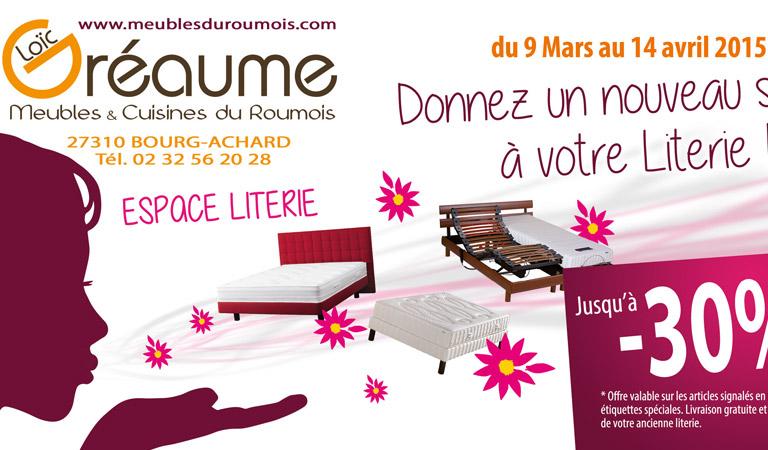 Création des supports de promotions et soldes du magasin Meubles du Roumois