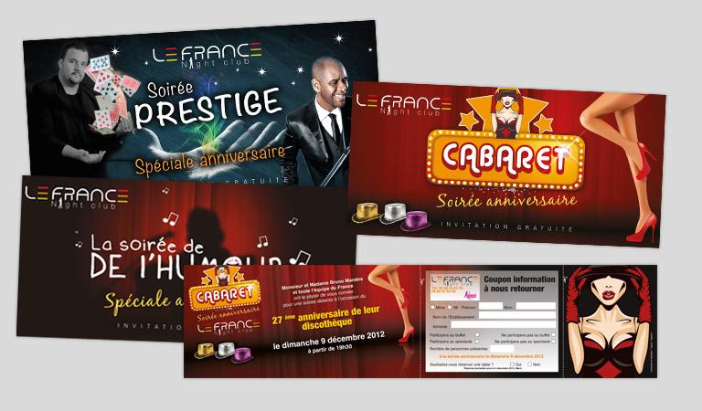 Création du site Internet de la discothèque Le France