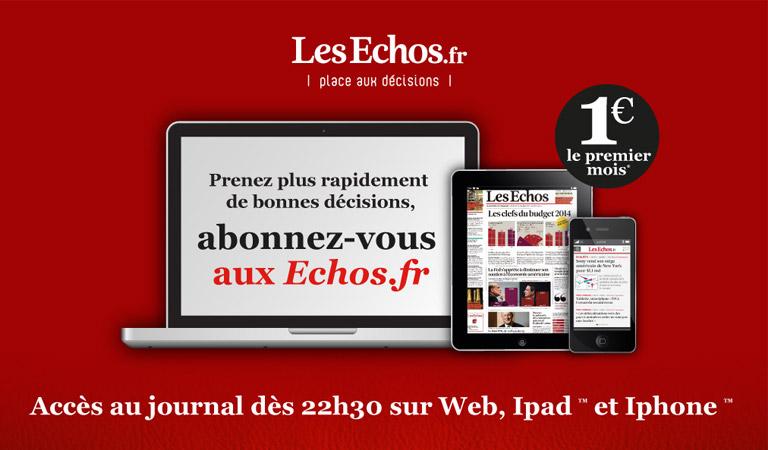 Création web design Les Echos