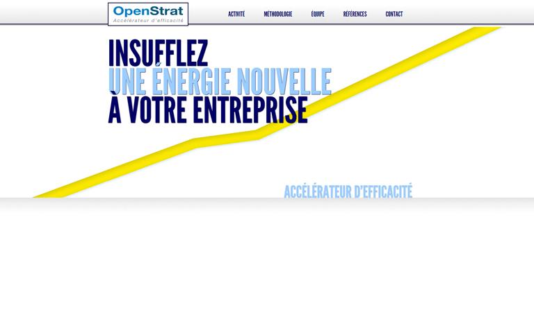 Développement site web corporate avec CMS WordPress pour OpenStrat