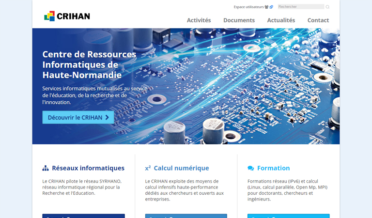 Développement du site web Crihan avec WordPress