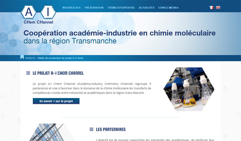Développement du site web AI Chem Channel avec WordPress