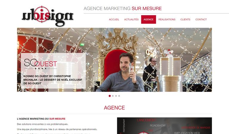 Développement du site web Ubisign avec WordPress