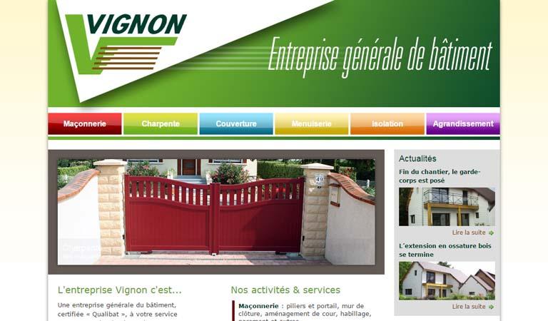 Développement du site WordPress de la société Vignon